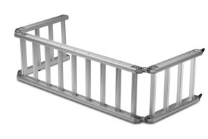ReadyRamp-I-Beam-Full-Sized-Bed-Extender-Ramp-Silver-100-Open-60-on-Truck-B00BB0QC6O